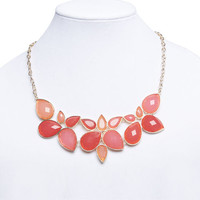 Faceted Teardrop Cluster Necklace | Wet Seal
