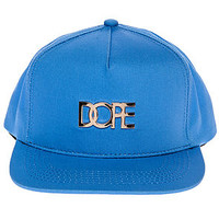 The Gold Metal Logo Snapback in Blue