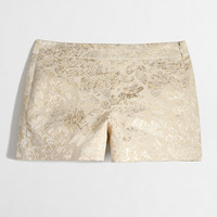 FACTORY METALLIC BROCADE SHORT
