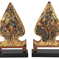 Thai Spirit House Fragments, Pair