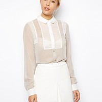 ASOS Blouse with Contrast Insert Panels