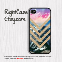 Pastel MOUNTAIN IPHONE 5S CASE Vintage Sky Wood Chevron iPhone Case Phone 4S iPhone 5C Case Samsung Galaxy S4 S3 iPhone 5 iPhone 4 Cover