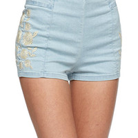 Bullhead Denim Co Embroidered High Rise Hot Shorts at PacSun.com