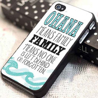 stitch ohana customized for iphone 4/4s/5/5s/5c, samsung galaxy s3/s4, and ipod touch 4/5
