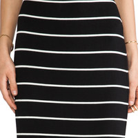 Bailey 44 Masakela Skirt in Big Stripe Black