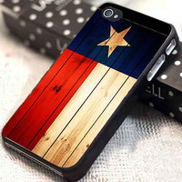Texas State Flag on Wood customized for iphone 4/4s/5/5s/5c, samsung galaxy s3/s4, and ipod touch 4/5