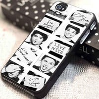 One Direction faced customized for iphone 4/4s/5/5s/5c, samsung galaxy s3/s4, and ipod touch 4/5