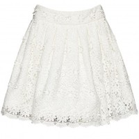 alice + olivia | GILBERTO LACE BOX PLEAT SKIRT