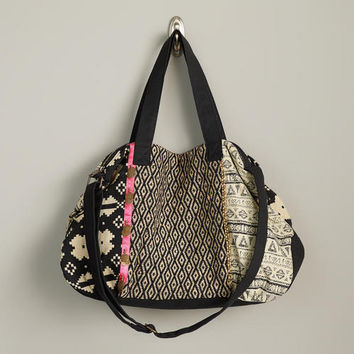 Black and White Pink Ribbon Bag