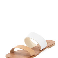 Sable Two-Tone Slide Sandal