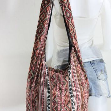 Elephant Sling Hippie Hobo Boho Vintage Cotton Yam Buddha Crossbody Shoulder Messagenger Bag Purse Tote EI06