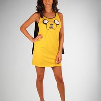 "Adventure Time ""Jake The Dog"" Cape Tank Dress"
