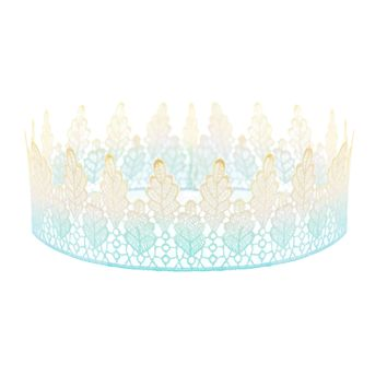 Arwen. Turquoise Ombre Lace Crown