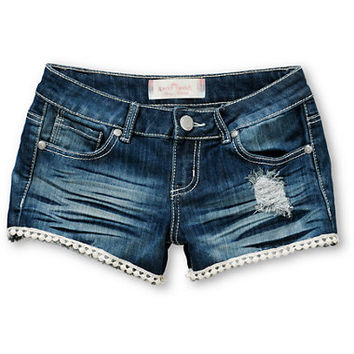 Almost Famous Wren Lace Denim Shorts