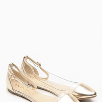 Liliana Gold Pointed Toe Ankle Strap Vinyl Flats @ Cicihot Flats Shoes online store:Women's Casual Flats,Sexy Flats,Black Flats,White Flats,Women's Casual Shoes,Summer Shoes,Discount Flats,Cheap Flats,Spring Shoes