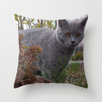 A NEW FRIEND 2 Throw Pillow by Melania Emma
