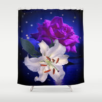 Magic Flowers  Shower Curtain by Elena Indolfi