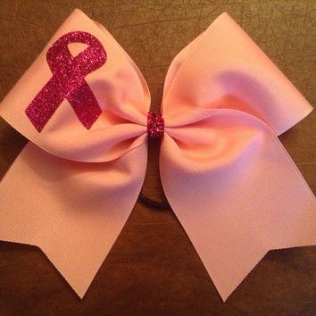 Cheer Bow - Breast Cancer Practice Bow