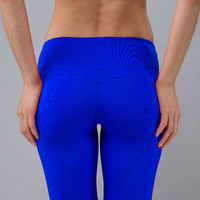 Nina.B.Roze Cobalt Blue Heart Butt Leggings, spandex, made in Los Angeles