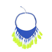 FEATHER EFFECT METAL NECKLACE