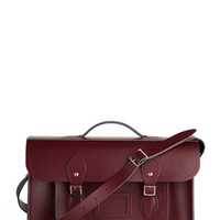 The Cambridge Satchel Company Vintage Inspired, Scholastic Cambridge Satchel Upwardly Mobile Satchel in Oxblood - 15 inch
