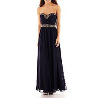 Be Smart Strapless Embellished Dress