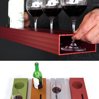 Modern Aluminum Wine Tray by MuNiMula - Pure Modern Design Lifestyle Objects