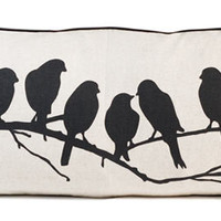 Contemporary Lovebirds Pillow by Ferm Living - Pure Modern Design Lifestyle Objects