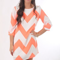 The Justine Chevron Dress, cora