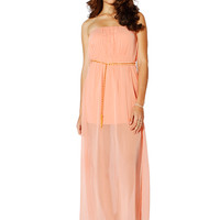 Papaya Clothing Online :: CHAIN BELTED CHIFFON MAXI DRESS
