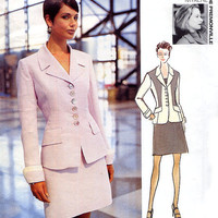 Designer Suit Pattern Vogue 1718 De by treazureddesignz on Etsy