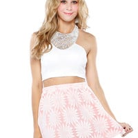 Papaya Clothing Online :: ELEGANT BEADED HALTER CROP TOP
