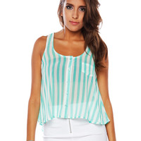 Papaya Clothing Online :: ONE POCKET STRIPE TOP