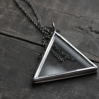 Large Glass Locket - Triangle | Urban Aviary