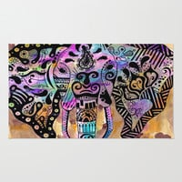 elephants on parade Area & Throw Rug by Natasha Marie | Society6