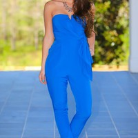 The Only Woman For You Jumpsuit-Marine