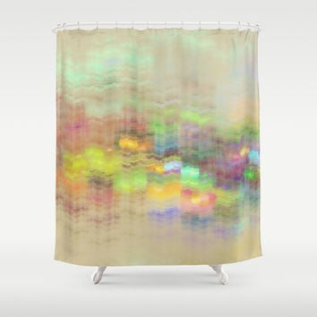 Small Mountain Village Shower Curtain by Klara Acel | Society6