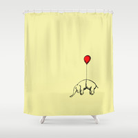 Red Elephant Shower Curtain by Dicom | Society6