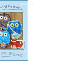Pattern, Whos Owl Pot Holders, Susie C Shore Designs, Craft Supply