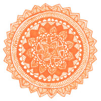 Orange Flower Medallion Art Print by Brenna Whitton | Society6