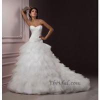 Ball Gown Sweetheart Chapel Train Tulle Wedding Dress WBG08352 - Wedding Dresses