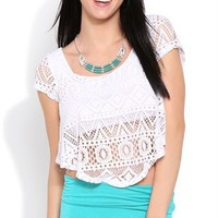 Flowy Crochet Crop Top