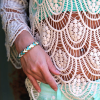Chevron Clasp Bangle