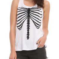 Teenage Runaway Beaded Rib Cage Tank Top