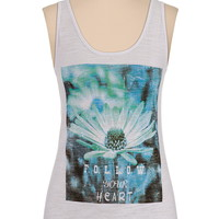 follow your heart daisy graphic tank