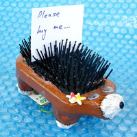 HEDGEHOG One Of A Kind Home decor by galleryingreen on Etsy