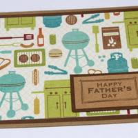 Fathers Day Card Grilling BBQ by RoyalRegards on Etsy