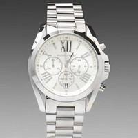 MICHAEL KORS Bradshaw Watch in Silver at Revolve Clothing - Free Shipping!