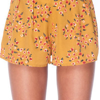 Meadow Print Shorts in Mustard :: tobi