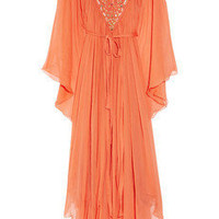 Temperley London Long Amberley embellished crepe kaftan - 70% Off Now at THE OUTNET